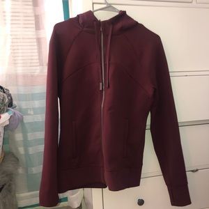 Dark purple lululemon zip up hoodie, offer!!